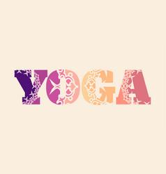 yoga word design vector image