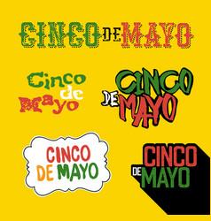 cinco de mayo badges holiday typography design vector image