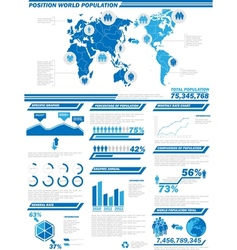 INFOGRAPHIC DEMOGRAPHICS POPULATION 2 vector image vector image