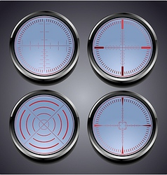 Set of four different crosshairs vector image
