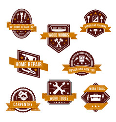 work tools icons set for home repair design vector image vector image