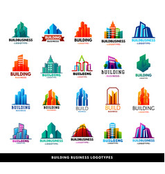 architecture buildings geometry silhouette vector image vector image