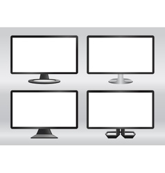 Design computer monitors set vector image vector image