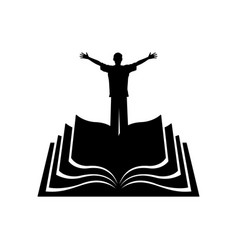 Man on the background of the bible vector