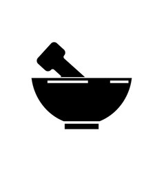 mortar and pestle icon vector image