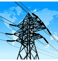 power industry concept vector image vector image