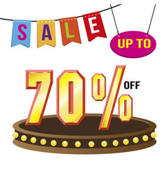 special 70 offer sale tag isolated vector image vector image
