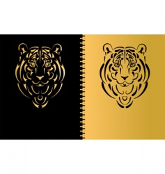 tiger symbol 2010 year vector image