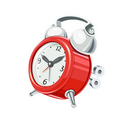 vintage alarm clock with arrow vector image