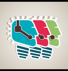 call center people icon vector image