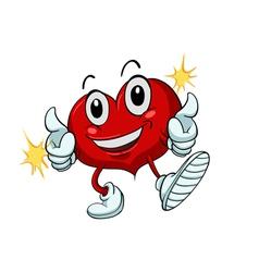 Cartoon Healthy heart vector image