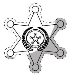 figure police bradge icon design vector image vector image