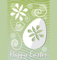 happy easter fine green wavy background with vector image vector image