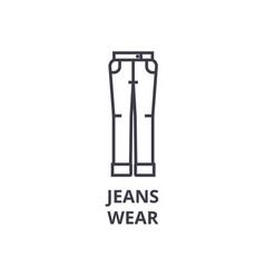 jeans wear line icon outline sign linear symbol vector image vector image