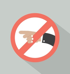 Turn Left Prohibited Sign vector image