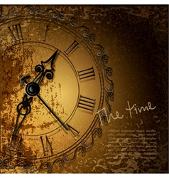 antique clock background vector image vector image