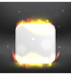burning icon Modern design template vector image