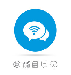 chat speech bubbles wifi sign wi-fi symbol vector image