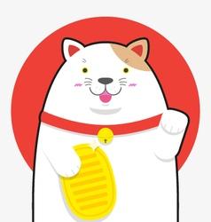 cute big fat Maneki neko lucky cat vector image