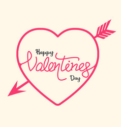 happy valentines day text banner vector image vector image