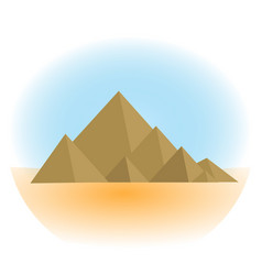 mountain icon flat cartoon style jewish vector image vector image