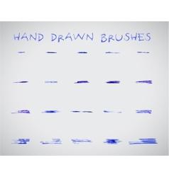 Set of felt pen marker hand drawndoodle sketched vector image