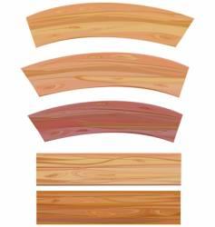 set of wooden elements vector image