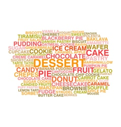 Variety of desserts vector image