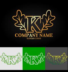 02 oak letter k vector image