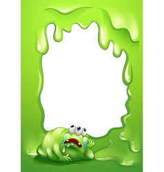 A border template with a monster salivating vector