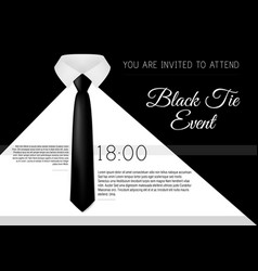 a4 elegant black tie event invitation template vector image