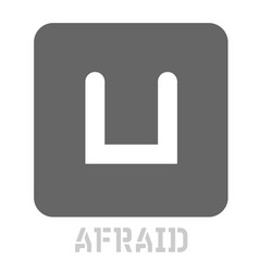 Afraid conceptual graphic icon vector