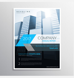 Annual report brochure template cover presentation vector