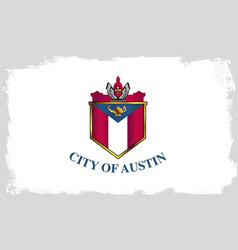 Austin city flag vector