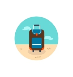 Baggage icon Travel Summer Vacation vector