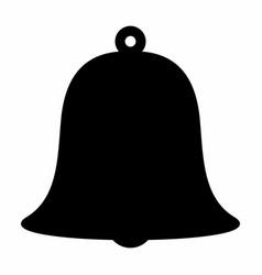 bell dark silhouette vector image