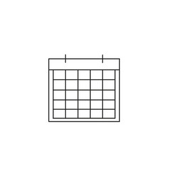 calendar linear icon vector image