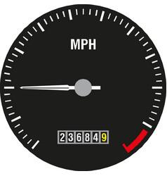 Car speedometer panel control symbol of vector