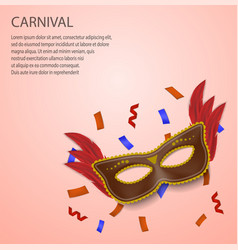carnival concept background realistic style vector image