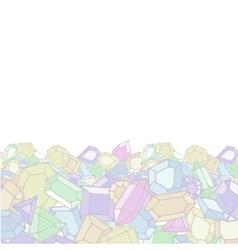 Cartoon doodle gems light background vector