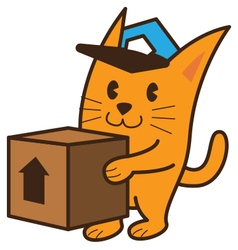 Cat Bring Box vector