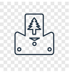 christmas card concept linear icon isolated on vector image