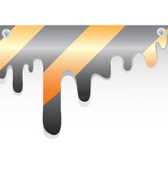 Construction warning stripes vector