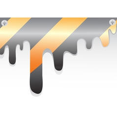 Construction warning stripes vector image
