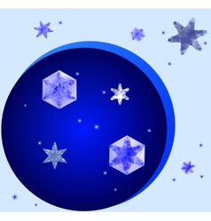 Crystal snowflakes vector