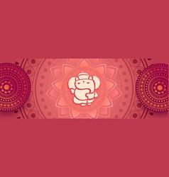 Decorative beautiful lord ganesha artistic vector