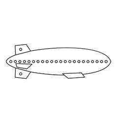 Dirigible balloon icon outline style vector
