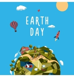 Earth day Environment and ecology concept vector