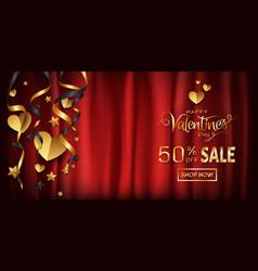 elegance sale banner for valentines day background vector image