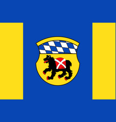 Flag of freising is a town in upper bavaria vector